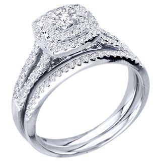 Halo Engagement Ring Set H I I2 By De Couer Bridal Ring Sets