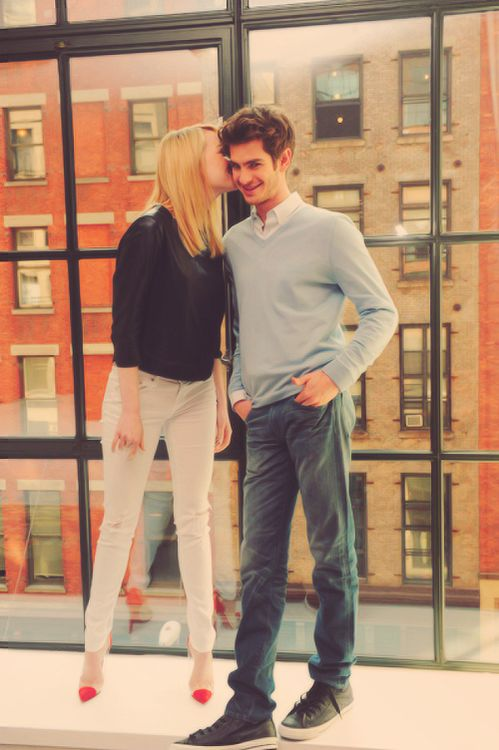 Emma Stone and Andrew Garfield, seriously so cute.