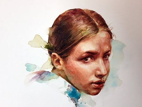 Watercolor Portrait Tutorial 3x Painting 인물수채화 Youtube