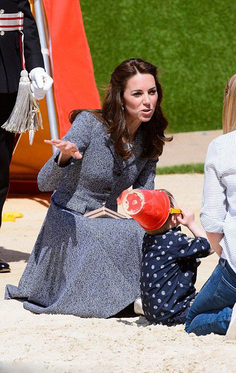 Royal Family Around the World: Catherine, Duchess Of Cambridge Will Open The Magic Garden At Hampton Court Palace on May 4, 2016 in London, England.: