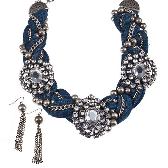 denim jewelry: