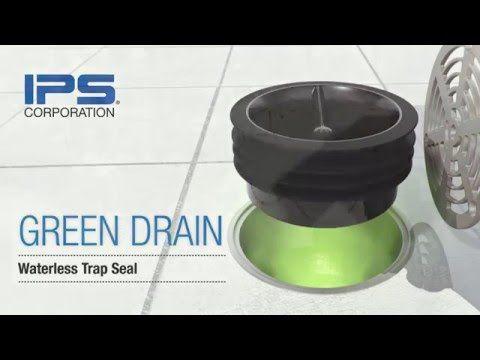 Green Drain Waterless Trap Seal For Floor Drains Youtube Floor Drains Waterless Drains