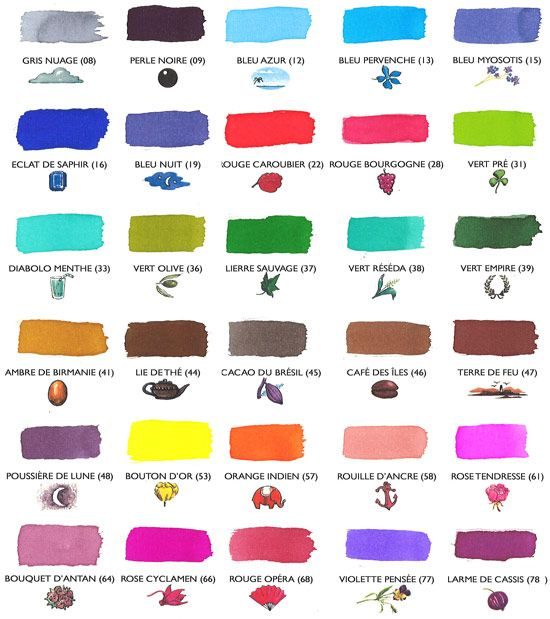 J Herbin Ink Color Chart