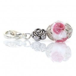 Charms Anhänger Rose