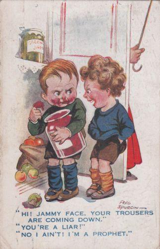 Vintage Fred Spurgin Comic Postcard 1919 Little Joker Series Hi Jammy Face L@@K | eBay: