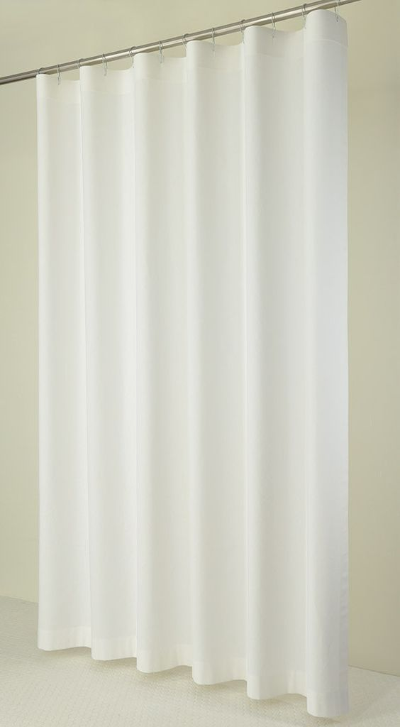 White Linens Curtains And Shower Curtains On Pinterest