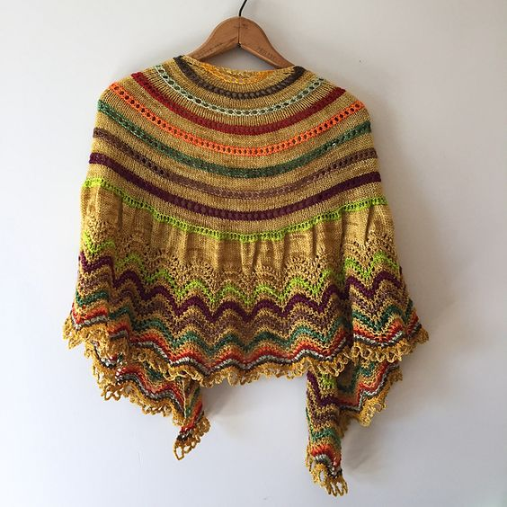 Ravelry: Project Gallery for Audrey Shawl pattern by Christelle BAGEA