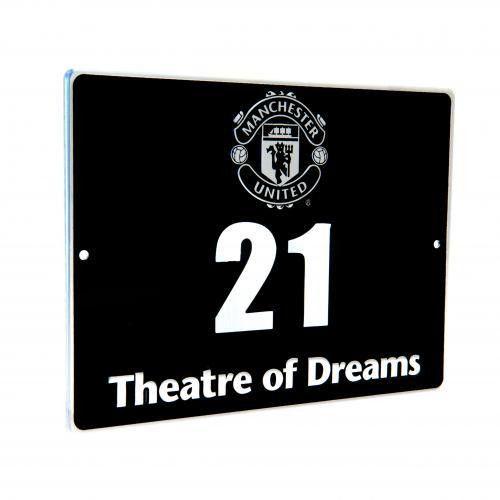 Manchester United F.C. Metal Door Plaque