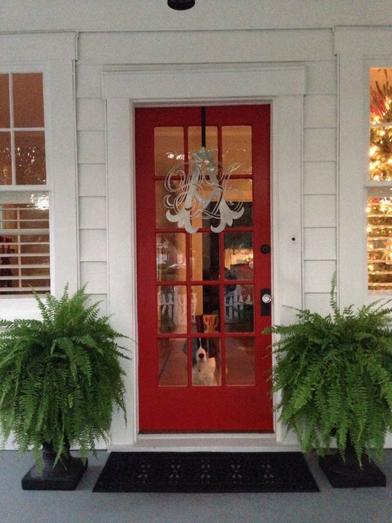 """Behr Porch And Patio Paint Quart: Behr """"firecracker"""" Red Door In High Gloss. Oil Rubbed"""