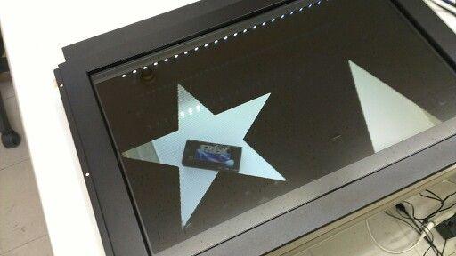 透過型液晶ディスプレイ+マルチタッチ
