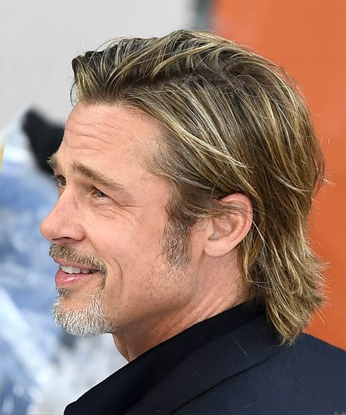 Brad Pitt Short Straight Copper Brunette Hairstyle With Layered Bangs Trending Hairstyles Guy Haircuts Long Brad Pitt Long Hair Long Hair Styles Men
