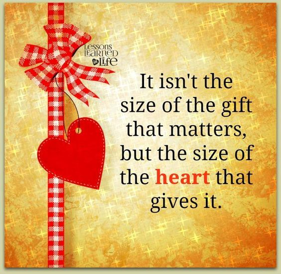 Quotes About Christmas Gifts: #Truth. It's The Thought That Counts. Appreciate The Giver