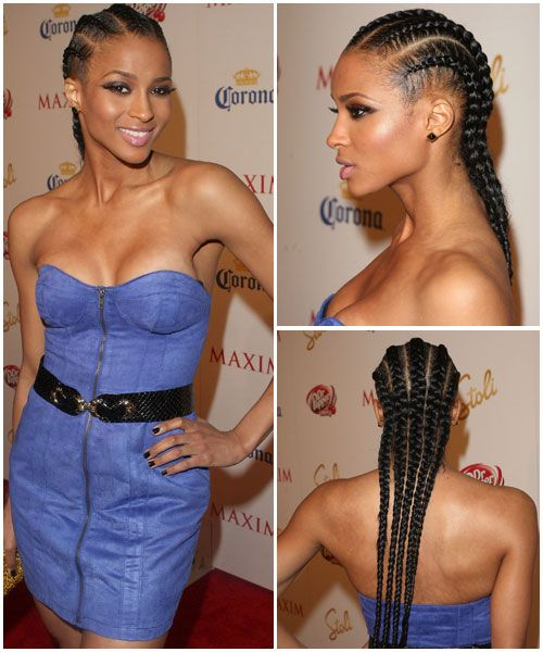 Magnificent Ciara Hairstyles Corn Rows And Cornrows On Pinterest Hairstyle Inspiration Daily Dogsangcom