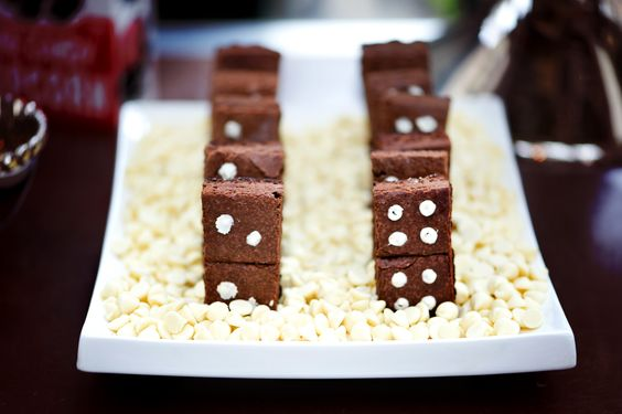 Domino brownies, hello! Perfect for game night