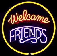 Welcome FRIENDS!: Neon Bar Lights Jpg, Neon Lights, Friends Neon,  Hockey Puck, Neon Bar Signs, Neon Mustbasign, Bright Lights, Signs Advetising, Neon Signs Lights2
