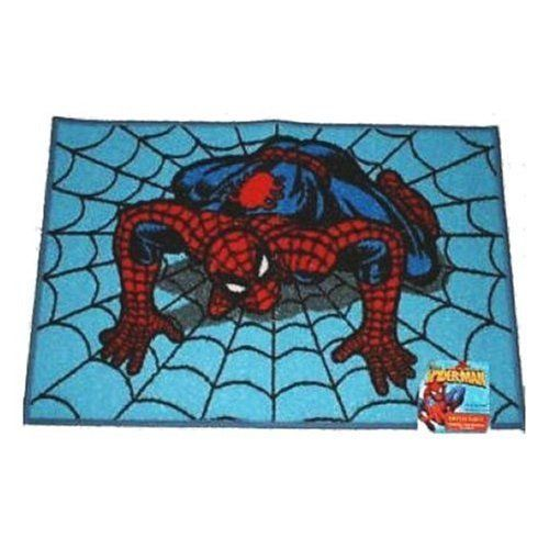 Spider man bathroom items spiderman bath rug from marvel for Spiderman bathroom ideas