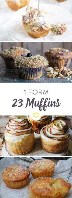 Sie sind klein, ziemlich beliebt und süß - die meisten zumindest. Wovon wir sprechen? Von Muffins natürlich. Und von diesen 23 genialen Rezepten.