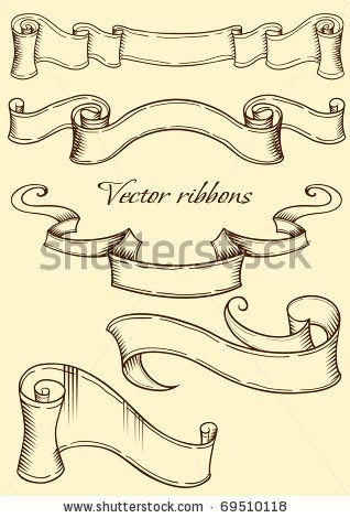 Ribbon in retro style. Vector illustration by Saranai, via Shutterstock