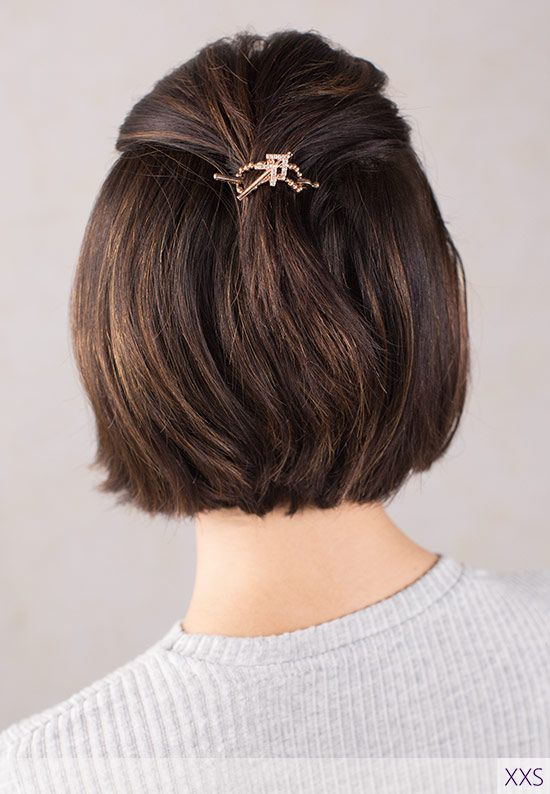 Rose Arrow Flexi Clip Pointing The Way To Great Hair Simple Quick Half Up Hairs Cute Hairstyles For Short Hair Short Hairstyles For Women Short Hair Styles