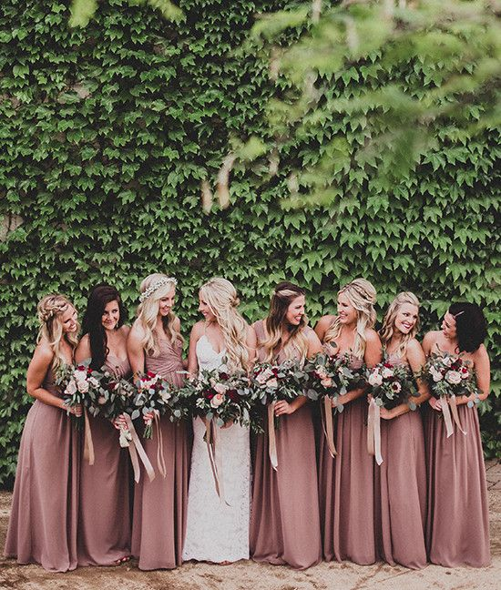 mauve wedding dresses from @dessy