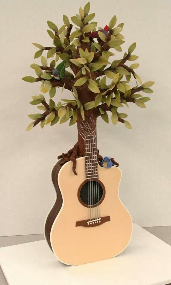Edible Art. Tree Guitar by Mike's Amazing Cakes