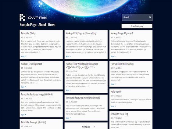 WordPress › CWP Robi « Free WordPress Themes