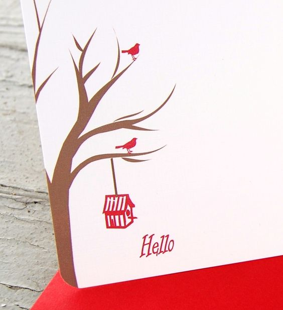 Birds in tree cards