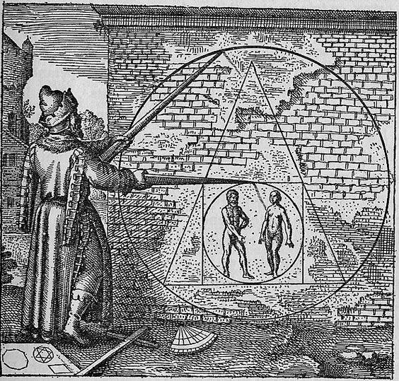 El alquimista en busca de la piedra filosofal