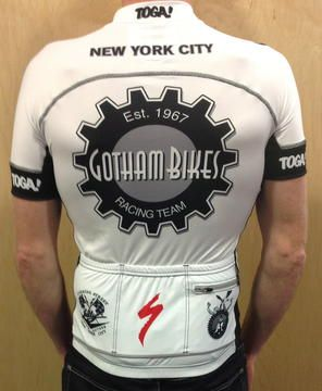 Toga Gotham Primo Euro Team Jersey SS-White - Gotham and Toga! New York's Oldest and Largest Bike Store