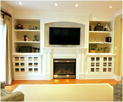 Built Ins Around Fireplace In Downstairs Living Room I Want To Hide Flat Screen With A Swing Out Armcannot Stand It On The Wall