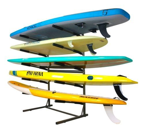 Storage For 5 Paddleboards At Home Or In A Retail Store Paddle Board Storage Kayak Storage Rack Freestanding Storage