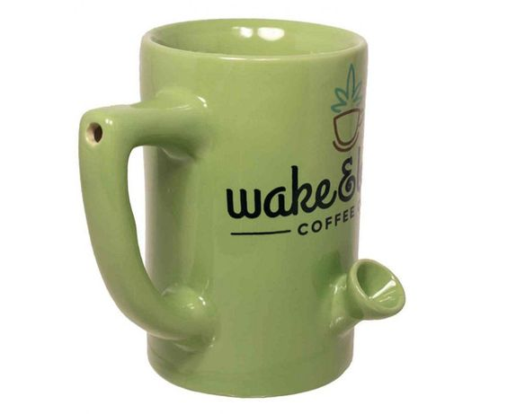 The Wake And Bake Coffee Mug: For The Early Bird Stoner