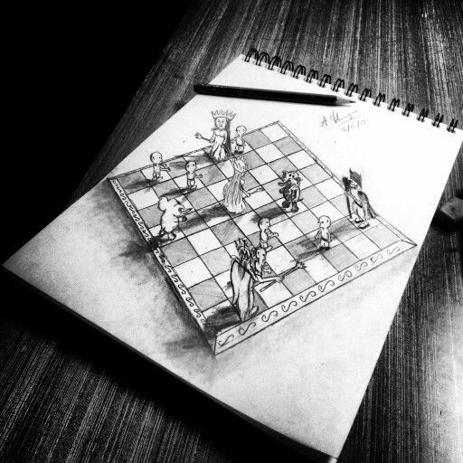 3d Drawings And 3d Chess On Pinterest