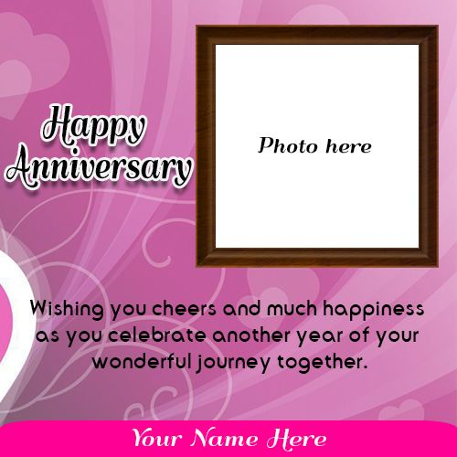 Create Wedding Anniversary Card With Photo Online Happy Anniversary Photos Anniversary Wishes For Couple Marriage Anniversary Cards