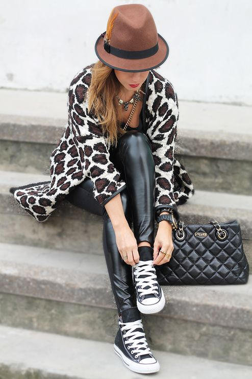 White Multi Animal Print Coat