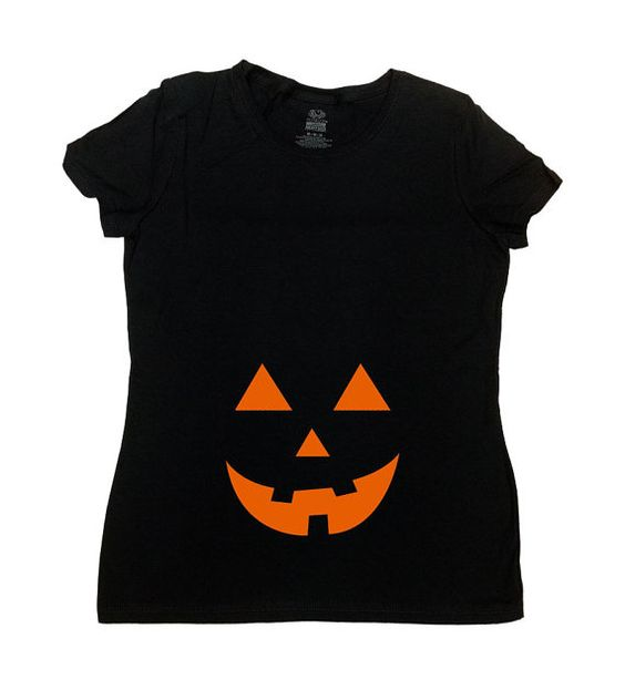 Jack O Latern Pregnancy T-Shirt - Great and Simple Halloween Costume!  *** This…