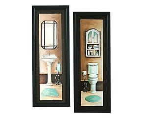 Set de 2 cuadros en madera DM