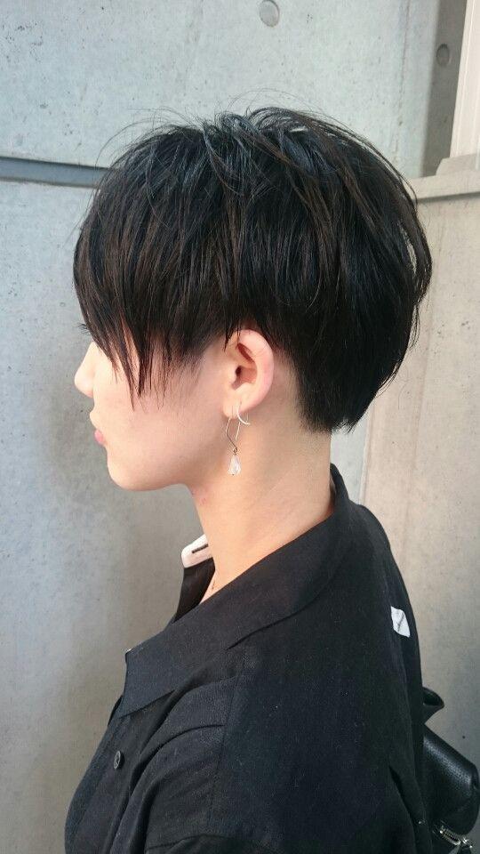 女性らしい ツーブロック黒髪ベリーショート 中目黒美容室lepes山口華絵のブログ 髪型 ボーイッシュ ボーイッシュ 髪型 ヘアスタイル 面長