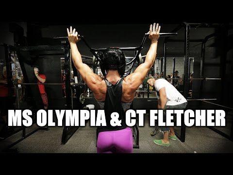 CT FLETCHER TRAINS MS. OLYMPIA DLB - YouTube