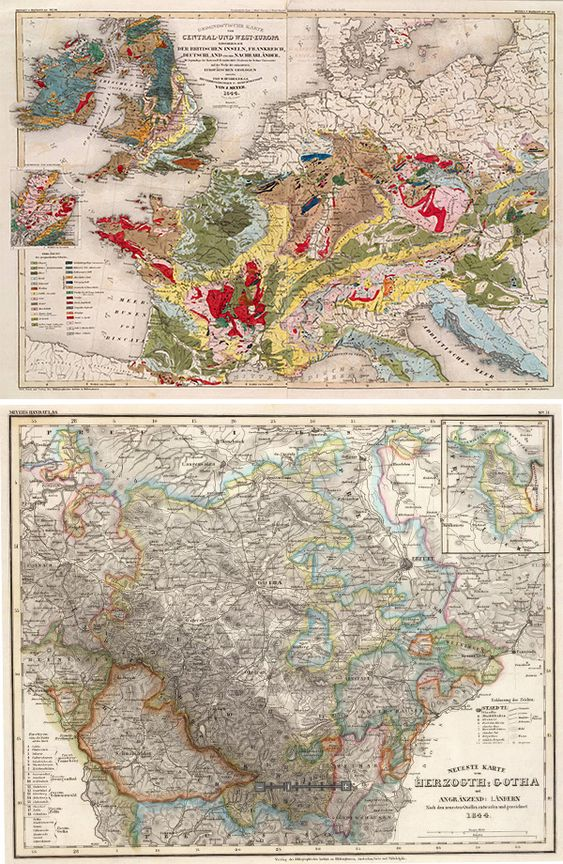 Maps - A HUGE collection of Vintage Maps online (over 29,000 images) that you can browse and download for Free. High-Res images. Great source for your art and design needs.: