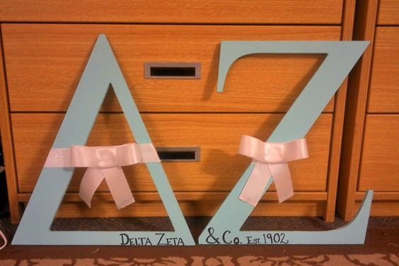 Delta Zeta Tiffany & Co. Letters! I worked super hard on these and think they came out awesome!