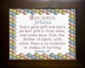 Name Blessings - Benjamin 2