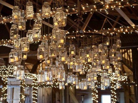 Jars Rustic Wedding Centerpieces And Masons On Pinterest