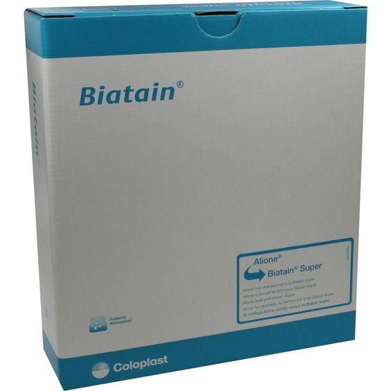 BIATAIN Super nicht-haftend Superabs.12,5x12,5 cm:   Packungsinhalt: 10 St Verband PZN: 01404277 Hersteller: Coloplast GmbH Preis: 111,14…