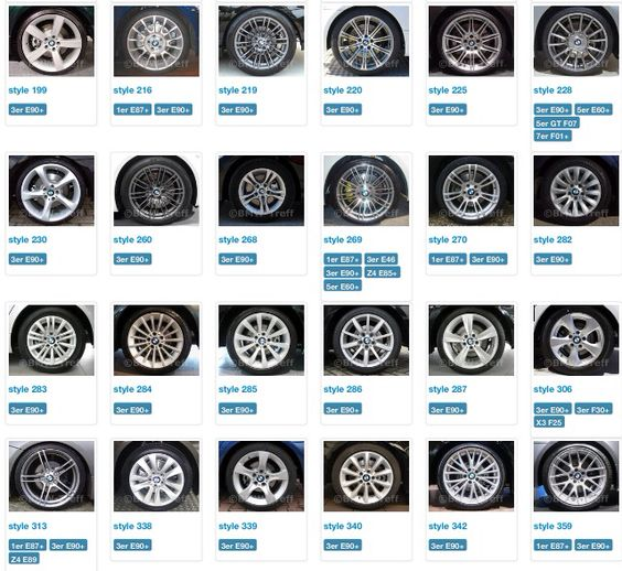 All Bmw S 3rd E90 Wheel Styles 2 Bmw Related Items