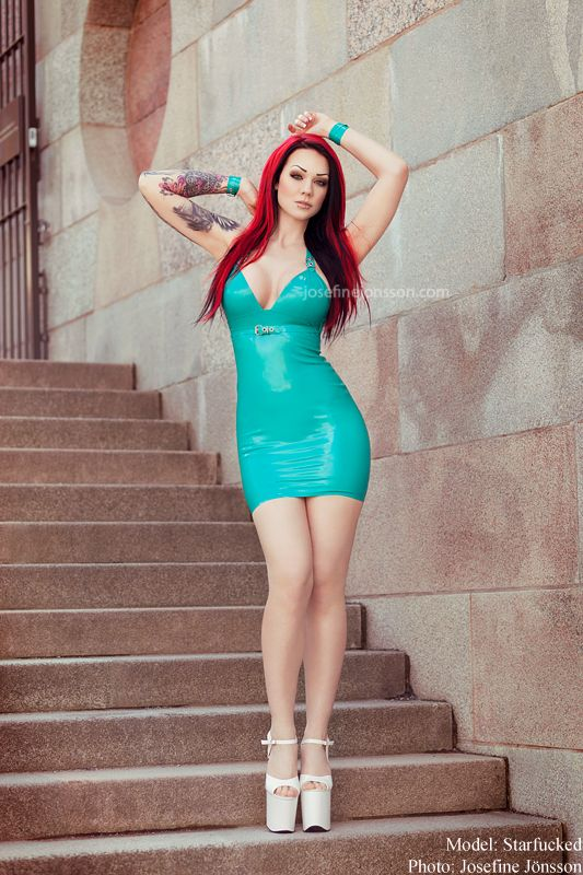 Model is Starfucked (nope I am not the model) Dress by Lady Lucie latex Photographer: Josefine Jönsson  Support my work, buy prints! www.etsy.com/shop/JosefineJons… - Do not...