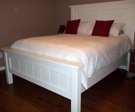 Bed Frame Plans, Farmhouse Queen Bed Frame Plans