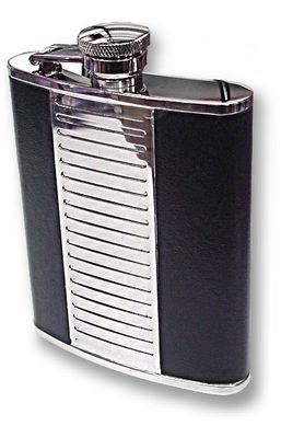 Leather Steel Flask 6oz.