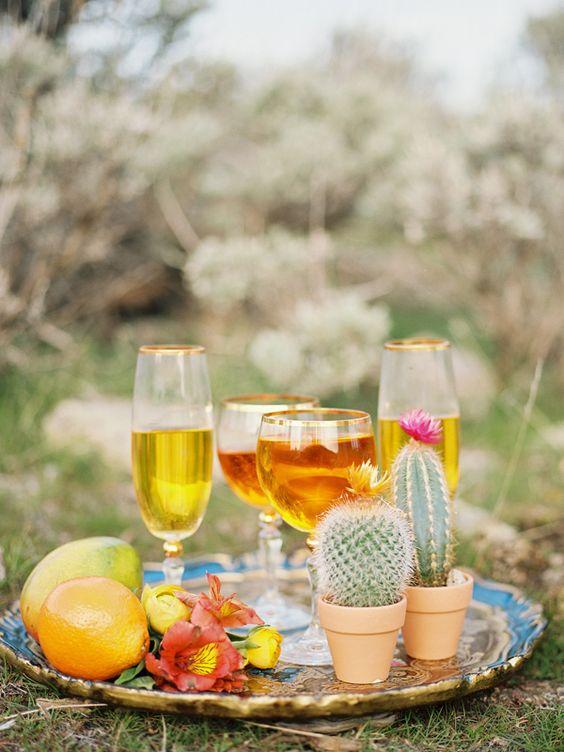 drink up, photo by Chelsea Scanlan http://ruffledblog.com/cinco-de-mayo-wedding-ideas #weddingideas #drinks
