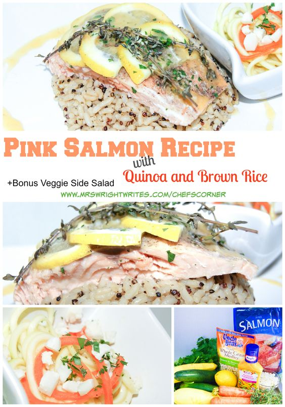 Pink Salmon with Quinoa and Brown Rice